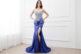 Wholesale Ladies Evening Dresses Full Length - Real Images Fancy Lady Formal Dress Full Sequins Mermaid Party Gown Sweetheart Sweep Train Sequin Beaded Backless Prom Evening Dresses