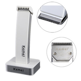 Wholesale Kemei Trimmer Cut - 2 colors style kemei KM-619 rechargeable hair clipper electric shaving hine razor barber cutting beard trimmer Haircut Set Cordless