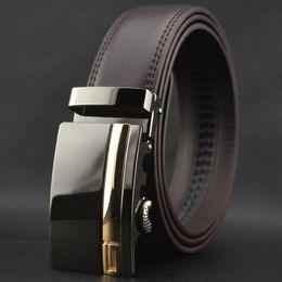 Wholesale Men Blue Leather Pants - 2016 Hot Mens Designer For Brand Leather Belt Cowskin Automatic Buckle Business Trouser Strap Pant Ceinture Homme W164 Men High End Belts