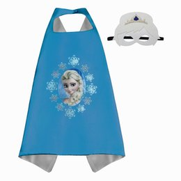 Wholesale Little Boys Girls - Children Boys Girls Little Pony Capes and Masks Mermaid Elsa Capes Child Halloween Birthday Christmas Party Cosplay Costumes and Gifts