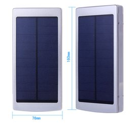 Wholesale Mobile Phone Charger Adapter Solar - 2015 NEW 8000mAh Portable Solar Charger USB Power Bank External Battery Mobile Adapter