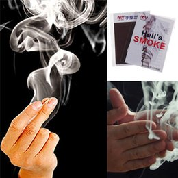 Wholesale Magic Smoke Finger - 10x Adorable Finger - Smoke Magic Trick Magic Illusion Stage Close-Up Stand-Up factory price !Christmas Halloween jok gift
