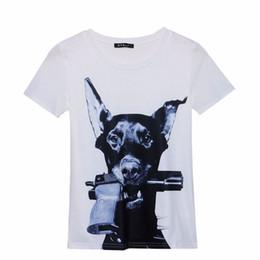 Wholesale-S-M Beyaz Siyah Temel T-shirt gündelik moda t shirt kadın gundog baskılı t-shirt yaz kısa kollu kaya punk tee kadın nereden