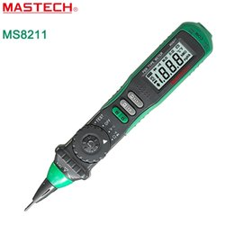 Wholesale Lcd Auto Range Multimeter - Mastech MS8211 Pen-Type Auto-Ranging Digital Multimeter with Battery Non-contact AC Voltage Detector LCD Display <$18 no tracking
