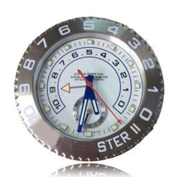 Wholesale Modern Metal Clock - 2015 model luxury wall clock brand new oyster type metal modern designer watch clock on wall glow in the dark