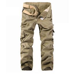 GRMO Men Camouflage Utility Plus Size Multi Pockets Casual Cotton Cargo Pants