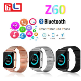 Wholesale Fashion Cameras - Fashion Z60 Bluetooth Smart Watch Phone Smartwatch Stainless Steel for IOS Android With the Retail Box