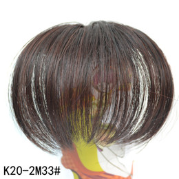 Wholesale Hair Extension Clips Bang - Wholesale-Lady 's similar human natural hair bangs Clip in on bangs hairpiece franja Black Blonde Brown clip in hair extension frange