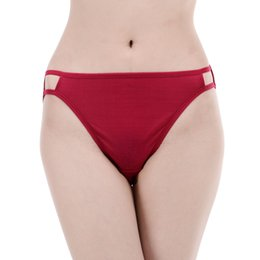Wholesale Bikini Free Shipping Xxl - Free Shipping NWT Pure Silk Knit String Bikini Panties Two Line Elastic Solid Tanga US S M L XL XXL