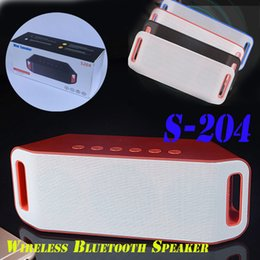 Wholesale Ipad Mini Reader - S204 Portable Bluetooth speaker For iPhone Galaxy iPad PC Tablet subwoofer sport outdoor home mini TF gift