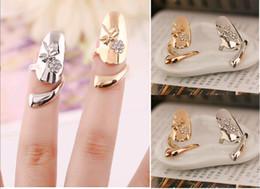 2019 gold ringe besten design Netter vorzüglicher Königin-Libellen-Entwurfsrhinestone-Pflaumen-Schlangen-Goldsilberring-Finger-Nagel schellt Schmucksachen für besten Preis der Frauen rabatt gold ringe besten design
