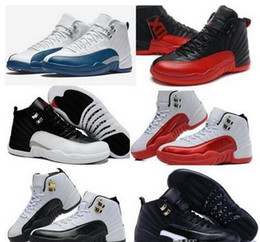 Wholesale Height Increasing Shoes China - Top China dan12 Basketball Shoes Sneakers Men Taxi Playoffs Gamma Blue Grey Sports Authentic China dan Shoes Retro 12 XII