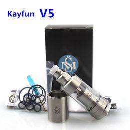 Wholesale Kayfun Mini Clone - Newest Kayfun V5 RTA Atomizer 316 Stainless Steel Top Filling Kayfun 5 Tank Clone vs Kayfun V3 Mini V4 for 510 Thread Box Mods DHL