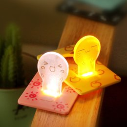 Wholesale Choice Travels - New Portable Pocket LED Card Light Lamp Mini SIze Put in Purse Wallet Style For Gift Travel Choice Night Lights toys gifts