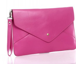 Wholesale Colored Clutches - Lady Clutch Bags Girl candy colored Vintage envelope clutch bag handbag briefcase many colors for choose