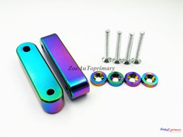 Wholesale Billet Riser - NEO CHROME BILLET Hood Risers Spacer set forHonda1988-2000 Civic 92-95EG 96-00EK
