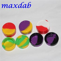 reusable atomizers Promo Codes - Reusable 22ml silicone wax box Non-Stick Silicone Oil Container silicone container for E-cig atomizer dab wax container