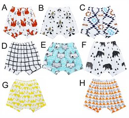 Wholesale Shorts For Toddler Boys - 8 Design INS Baby Shorts For Summer Toddler Girls Boys Bloomers Animal panda fox geometric figure Pattern Children Shorts hight quality