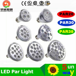 Wholesale G4 G9 - Dimmable Led bulb par38 par30 par20 9W 10W 14W 18W 24W 30W E27 par 20 30 38 LED Lighting Spot Lamp light downlight