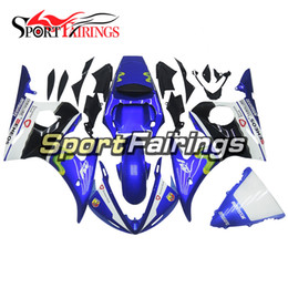 Wholesale Yamaha R6 Fairing Kit Blue - Fairings For Yamaha YZF600 YZF R6 03 04 2003 - 2004 Injection ABS Fairings Motorcycle Full Fairing Kit Bodywork Cowling Blue Movistar