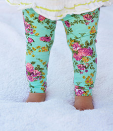 Wholesale Pants Rose Tight Cotton - 2016 INS hot Baby girl toddler Kids Summer clothing clothes Rose Floral cotton legging pants tights