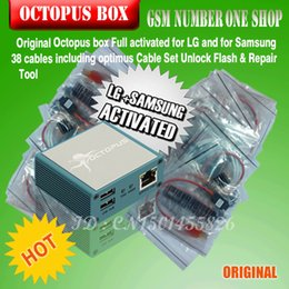 Wholesale Octopus Box Cables - Full activated Octopus Box + 38 in 1 Full Cable Set for LG and for Samsung Unlock Flash & Repair+free shipping
