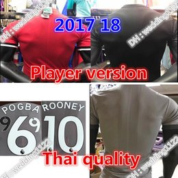 Wholesale United Soccer - Wholesale prices Player version 2017 man LUKAKU POGBA Ibrahimovic soccer jersey 17 18 UnITED Ibrahimovic MEMPHIS ROONEY jersey shirts