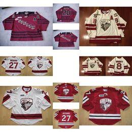 Wholesale Custom Hockey Jerseys Cheap - Custom Mens Womens Kids OHL Guelph Storm 20 Rotter 8 Drew Doughty 27 Richard Ice Hockey Limited Cheap Jerseys Goalit Cut