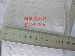 Wholesale Self Adhesive Hook Loop Tape - 12mm White Eco-Friendly Magic Sticky Self Adhesive Hooks&Loops Tape Dots Round Pads Clothes Craft H210907