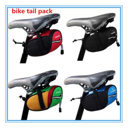 Wholesale Bike Back Seat Bag Pannier - Free DHL New bike tail seat Outdoor Cycling Bicycle Saddle Bag wholesale bicycle equipment Back Seat Tail Pouch Package out287