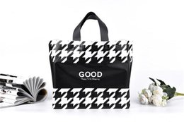 Wholesale Jewelry Bags Plastic Designs - 50pcs Good design black and white and decorative pattern PE plastic bags Ladies' handbags Portable clothing bag gift bags jewelry bags