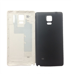 Wholesale Rear Case - 50pcs Back Battery Door Housing Case for Samsung Galaxy Note 4 Rear Cover Replacement with Logo