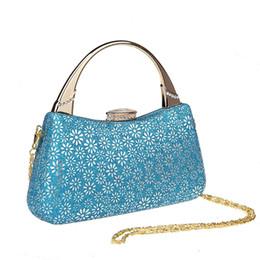 Borse per la porcellana online-HOT 2016 Noble Light Blue China Womens borsa da sera da sposa Clutch borsa Mujer Bolso Stylish Bride Party Purse Bag Trucco F906A