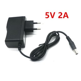 Wholesale Power Supply Adapter Converter - 5V 2A New AC 100V-240V Converter Adapter DC 5V 2A 2000mA Power Supply DC 5.5mm x 2.1mm