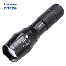 Wholesale Lumens Flashlight Wholesale - E17 3800 Lumens CREE XM-L T6 LED Flashlight 5-Mode Zoomable linternas LED Torch High Bright by 1*18650 or 3*AAA Free shipping