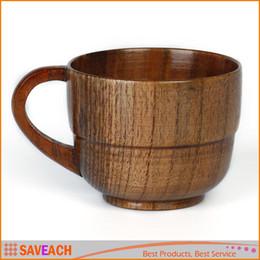 Canada Tasses en bois naturelles de tasses de barre de Jujube avec le café de poignée de café de thé de lait de voyage tasses de bière pour la barre à la maison Offre