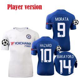 Wholesale Chelsea Player - 17 18 Player version chelsea soccer jersey Champions League home MORATA hazard 2017 2018 BATSHUAYI BAKAYOKO FABREGAS RUDIGER FOOTBALL SHIRTS