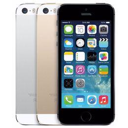 "Wholesale I5s Unlock - Original Apple iPhone 5S Unlocked iPhone 5S i5S Dual Core 16GB 32GB 4.0""IPS A7 iOS 8 3G 8MP WIFI Cellphone Refurbished 1pc"