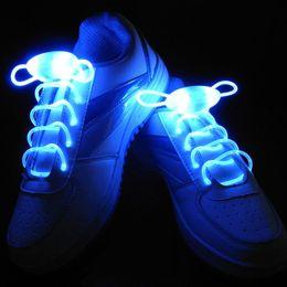 Wholesale Neon Stick Luminous - LED Shoelaces Light Glow Shoelace Glow Stick Flashing Colored Neon Shoelace Shoe Laces Shoestring Flash Light Up Glow Luminous Waterproof