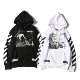 Wholesale Oil Painting Europe - Europe and The United States Fashion Sweatshirt Our Lady Oil Painting Hoodies  Men and Women Loose Coat Pullover