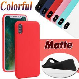 Iphone силиконовый чехол матовый онлайн-Candy Цвет Ultra Slim Матовый Матовый Мягкий ТПУ силиконовый гель резиновый чехол чехол для iPhone 11 Pro Max XS XR X 8 7 6 6S Plus 5 5S антидетонационных