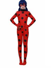 Wholesale Cat Woman Costume Spandex - Ladybug kids costumes girls women children spandex miraculous ladybug cat noir spandex miraculous halloween fancy dress