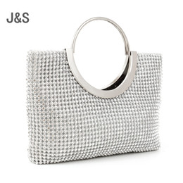 Wholesale Solid Color Clutch Bags - 2016 diamond-studded handbag evening bag evening bag with a diamond bag women's rhinestone banquet handbag day clutch female 3 Color