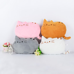 Wholesale white crochet pillow - Plush Cartoon Cat Pillow Cushion Cute Lazy Cat Bolster Long Tail Meow star Pillow Home Decoration Chunk Big Cat Cushions