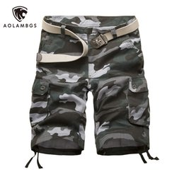 Wholesale Men Camouflage Cargo Shorts - Wholesale-Men shorts camo cargo military camouflage shorts outdoor sport trousers high-quality 2016 New fashion casual beach board shorts