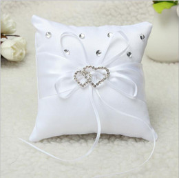 Wholesale Flower Shaped Pillow - Ring Bearer Pillow Ring Pillows & Flower Baskets Heart-shaped cake ring pillow Flower bride a ring pillow ring box free shipping WT024