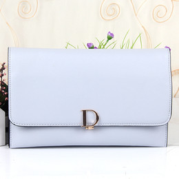 Wholesale Ladies Shoulder Long Bag - Preppy Style Cover Clutch Bag Women Leather Handbags High Quality PU Leather Shoulder Bags Long Purse Small Messenger Bag with gift
