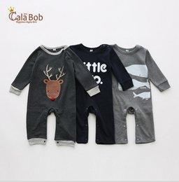 Wholesale Cheap Winter Clothing Free Shipping - 2016 autumn & winter baby Romper 80-90-95CM cotton cartoon children coveralls cheap boy climb clothes free shipping 3pcs A23