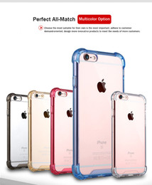 Wholesale Plastic Siding - Transparent Shockproof Acrylic Hybrid Armor Bumper Side Soft TPU Back PC Case Cover For iPhone 6 6s 7 Plus Samsung S7 Edge Note 8 S8 Plus
