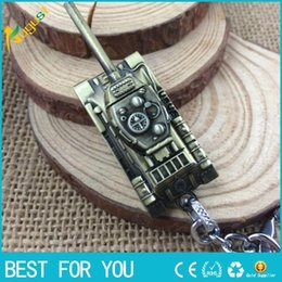 Wholesale Cars Cartoon Games - 3 Colors 3D World of Tanks Key chain Metal Key Rings For Gift Chaveiro Car Keychain Jewelry Game Key Holder Souvenir